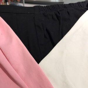 Blk,White,Pink POODLE Beaded Capris Sz S w extras